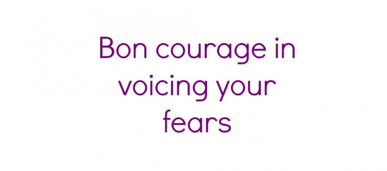voicing your fears