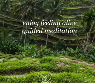 Enjoy Feeling Alive guided meditation